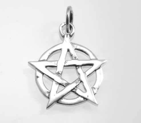 Stříbrný přívěsek Pentagram 5