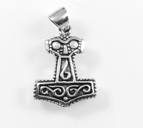Stříbrný přívěsek Thorovo kladivo No.19