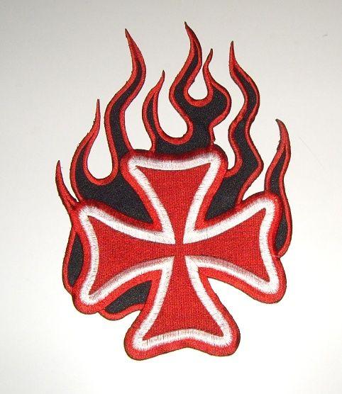 Nášivka Kříž v plamenech