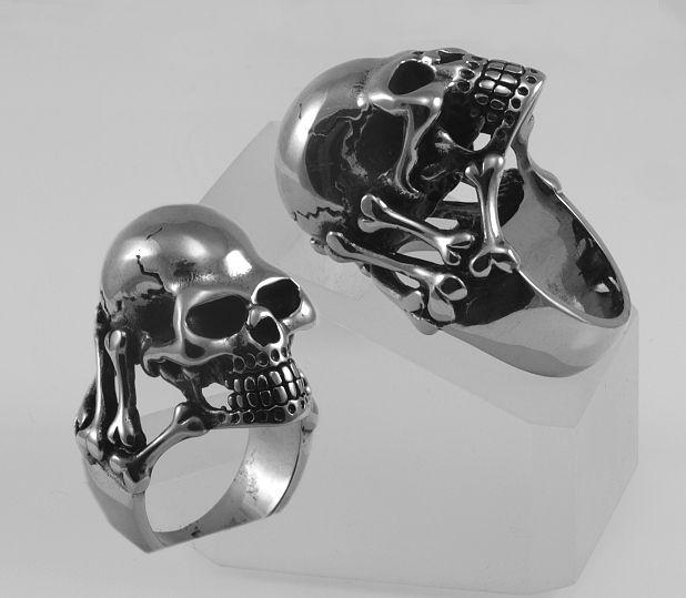 Ocelový prsten Lebka Danubia. OCPRST210017