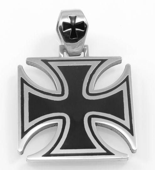 Ocelový přívěsek Maltézský kříž