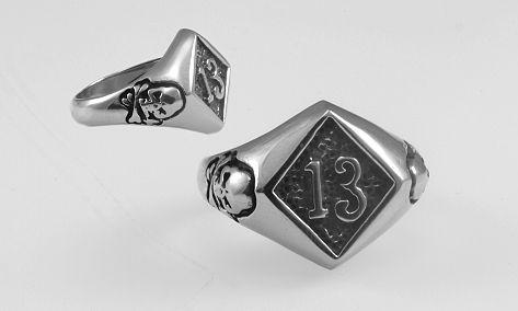 Ocelový prsten Č 13.  OCPRST210013