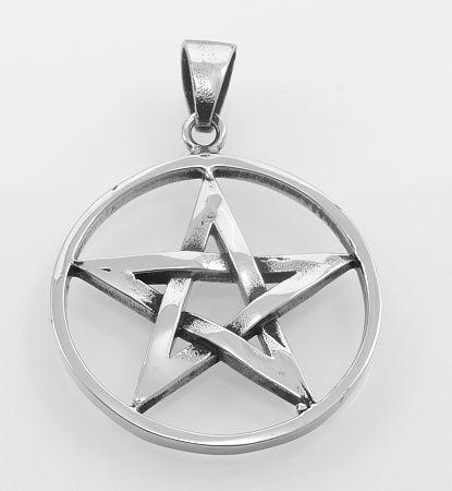 SteelArt Přívěsek ocel 316L, Pentagram OCPRIV220095