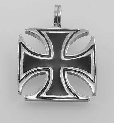 Ocelový přívěsek Válečný kříž.   OCPRIV220087
