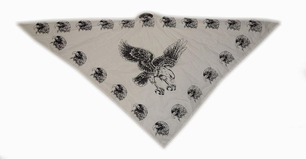 Textilní šátek bíly Orel. SAT2008