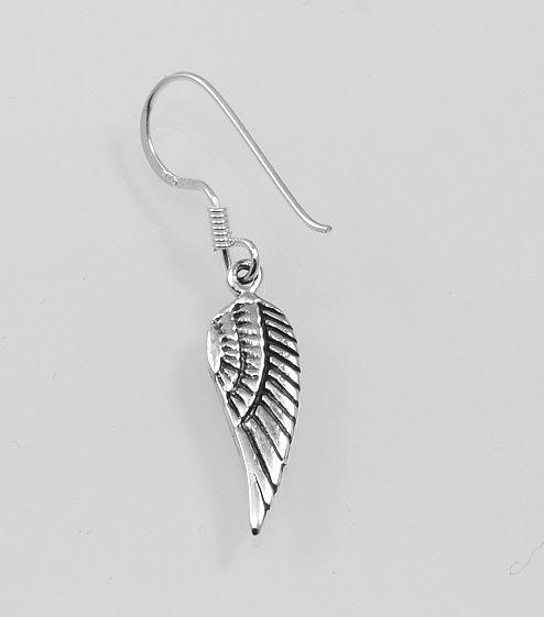 Stříbrná náušnice Křídlo
