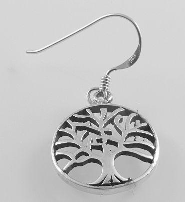 Stříbrná náušnice strom života No.08