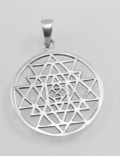Stříbrný přívěsek, Pentagram.  AGPRIV620142