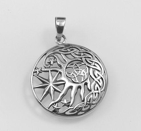 Stříbrný přívěsek Keltská triáda. AGPRIV620151