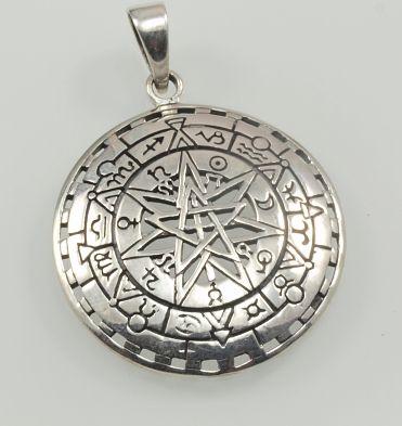 Stříbrný přívěsek, Pentagram.  AGPRIV620141