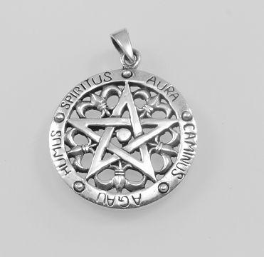 Stříbrný přívěsek Pentagram .  AFPRIV620139