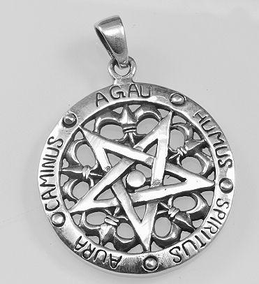 Stříbrný přívěsek Obrácený Pentagram. SilverAgi Bangkok co.ltd 1f6f66d165e