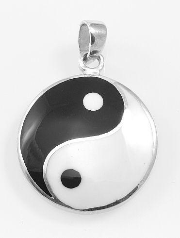Stříbrný přívěsek Jing Jang
