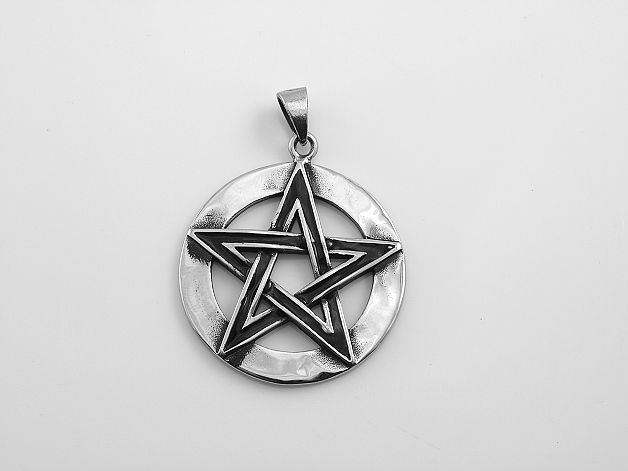 SteelArt.316L. Ocelový přívěsek.Pentagram II.OCPRIV220140