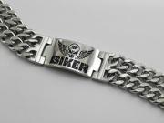 Ocelový náramek BIKER