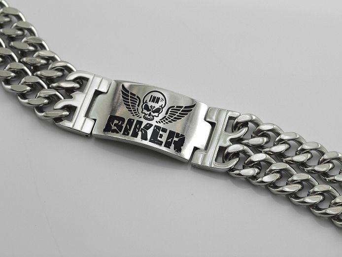 14c37203f Náramek pro motorkáře z chirugické ocele Biker SteelArt