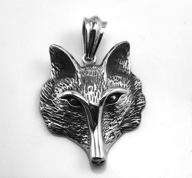 Ocelový přívěsek Hlava Lišky