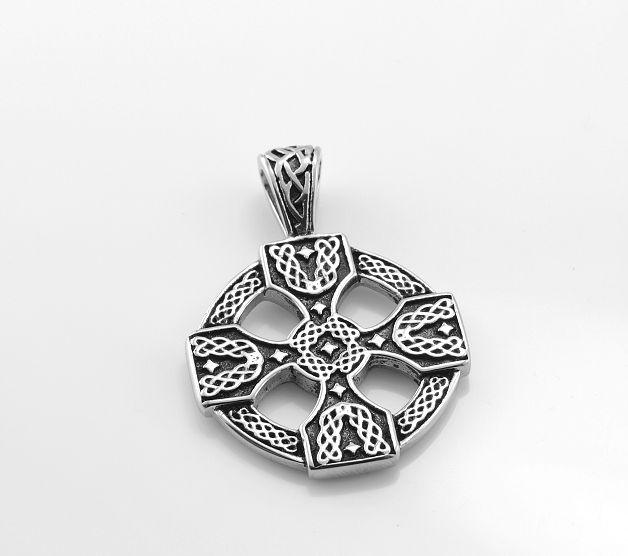 Ocelový přívěsek Keltský kříž No.015