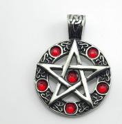 Přívěsek  Pentagram s kameny nr. 01