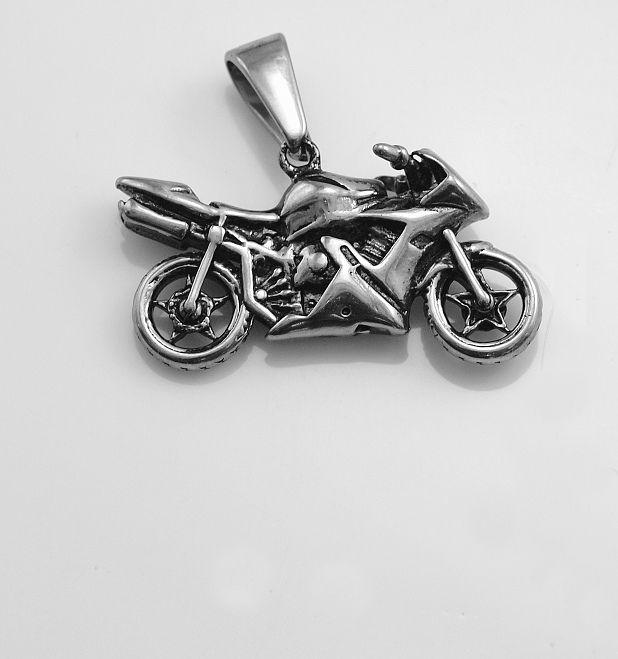 Ocelový přívěsek Silniční motorka