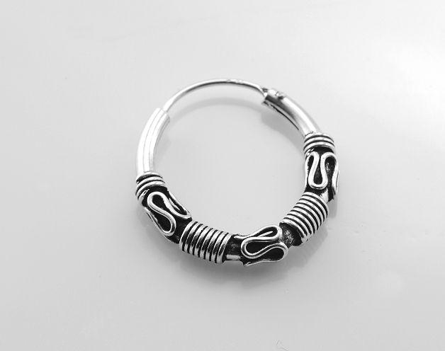 Stříbrná náušnice kroužek No.035