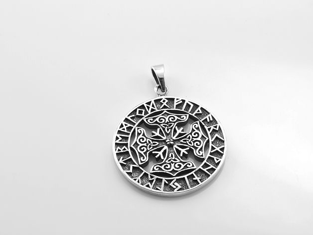Stříbrný přívěsek Keltský kříž No.06