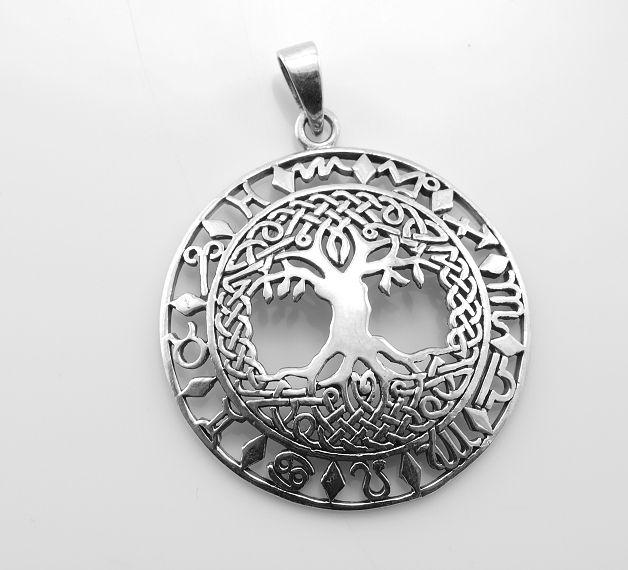 Stříbrný přívěsek Strom života No.011
