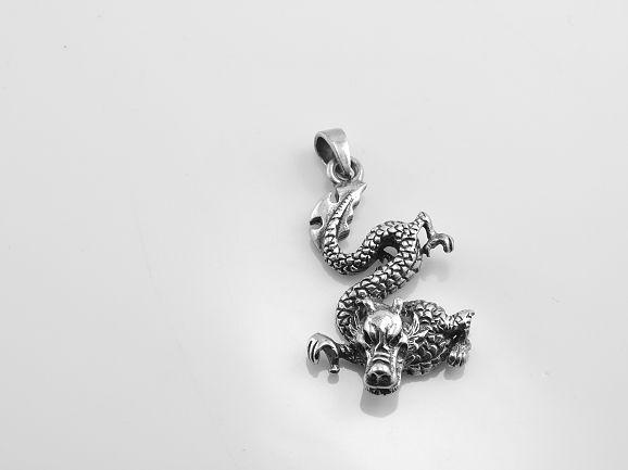 Stříbrný přívěsek Drak Tachamu