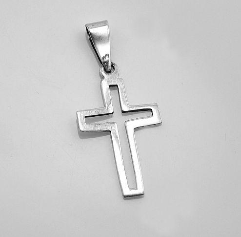 Stříbrný přívěsek Křesťanský Kříž no.06 RiverSperky