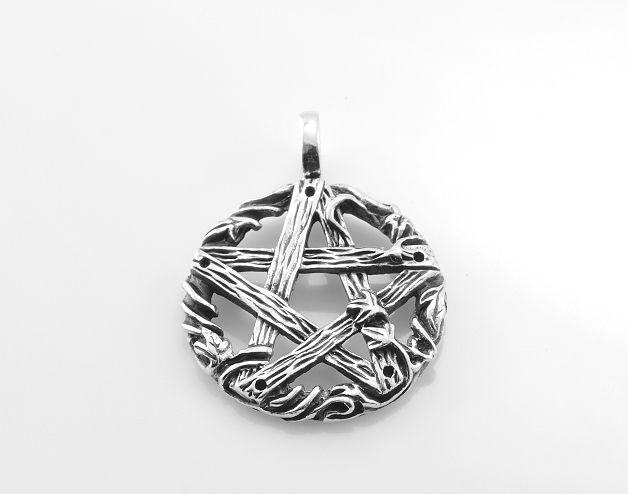 Stříbrný přívěsek Pentagram No.06