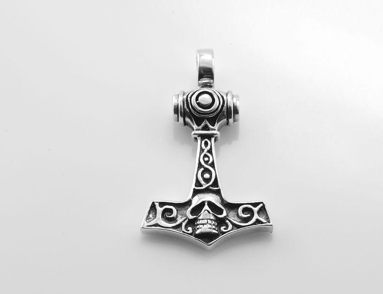 Stříbrný přívěsek Thorovo kladivo no.21