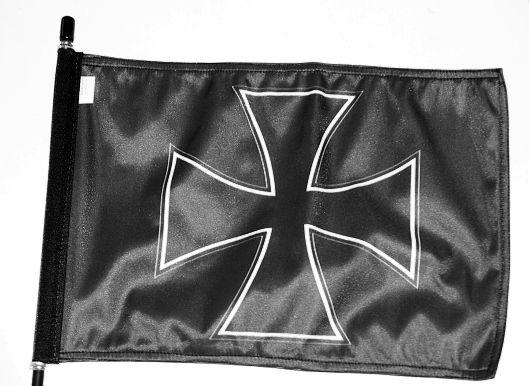 1. Vlajka na motorku,Maltézský kříž
